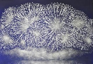 小倉亜矢子「胸に響けり夏の音」日本画40号