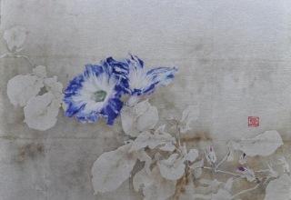 小倉亜矢子 「寂寞の情」日本画F8号