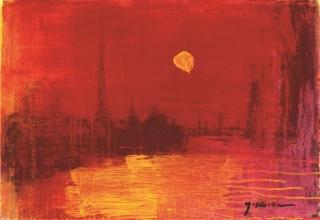 吉岡耕二 「ラ・セーヌ」 油彩45.5×65.2 M15号