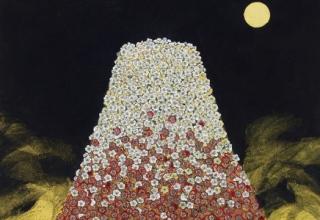 平松礼二「日本の祈り・花山」日本画50号