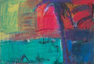 吉岡耕二 「セント・トーマス(ヴァ―ジン諸島)」72.7×60.6cm