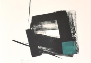 「冬緑」リトグラフ+手彩 71×53cm 1998年制作
