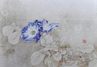 小倉亜矢子 「寂寞の情」 日本画 8号