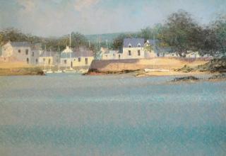 ブーリエ 「コートダジュールの海の光」 油彩20号
