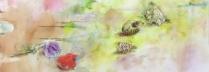 大和田いずみ「貝殻の唄」油彩F60号