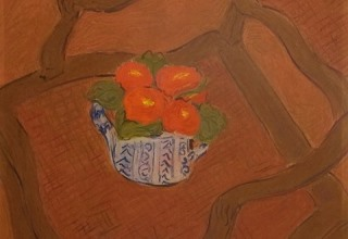 ボンコンパン「肘掛け椅子の上の桜草」パステル6号