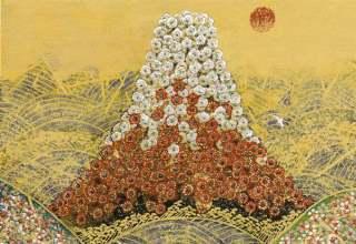「日本の祈り」フレスコグラフ 26×33.3㎝ ギャラリー桜の木創立30周年記念制作版画 限定150部