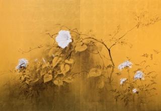 小倉亜矢子 「生くことの過ぎ去りし日を想いつつ」 日本画 F50号