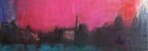 吉岡耕二「ラ・セーヌ La Seine」油彩45×90㎝