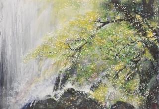 木村圭吾 「白糸の滝」 日本画3号