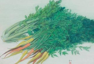 中西和「菜」洗い出し  50×72cm
