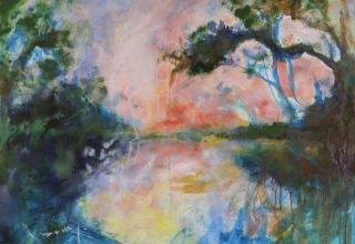 大和田いずみ 「南国色の情景」 油彩P15号