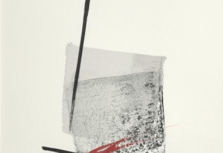 篠田桃紅「An ode」リトグラフ+手彩 29×23cm