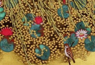 「ジヴェルニー光る池」日本画 20号