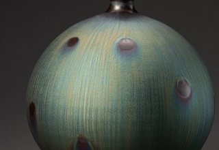 「Vase with Peacock glaze」陶磁器