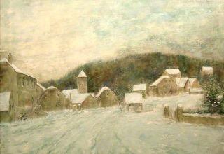 ガントナー「初冬の雪」油彩15号