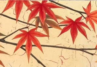 「秋の色Ⅱ」日本画 18×74cm