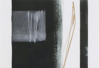 篠田桃紅「PHASE」リトグラフ+手彩 38×27.7cm