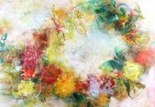 「Flower Dragon」油彩 M60号