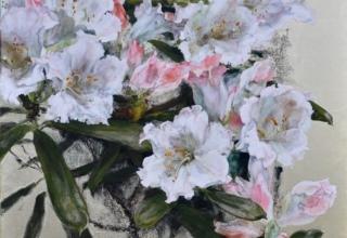 小倉亜矢子 「咲き昇りて春」 日本画6号