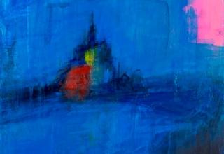吉岡耕二 「Mont St MICHEL (FRANCE)」 油彩15号