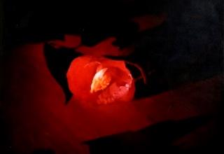 「椿姫Ⅰ」油彩 91×91cm