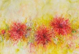 「Flowers」油彩100号