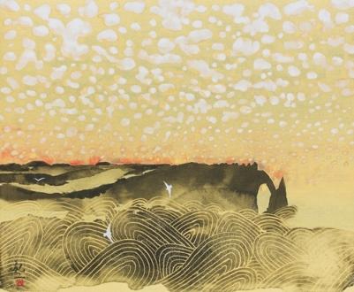 『エトルタの雲』日本画12号