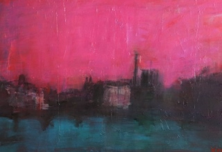吉岡耕二「La Seine」油彩45×90cm