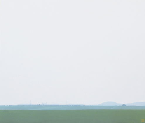 「田園」 アクリル・高知麻紙 45.5×53cm