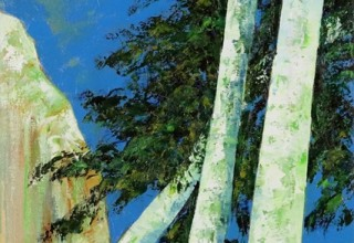 「コルシカの光を浴びて」油彩30号