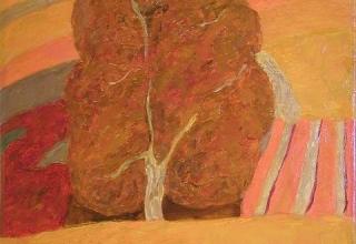「秋の樹」油彩8号