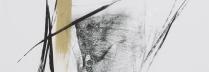 篠田桃紅「TRANSIENT うつろい」リトグラフ+手彩  53×71.7cm