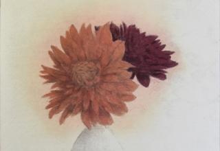 中西 和 「瓶花」洗い出し 30×20cm