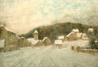 ベルナール・ガントナー「初冬の雪」油彩15号