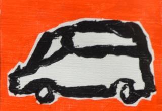 水野竜生「東京Cars-10」4点組  額寸法  39.5×39.5㎝