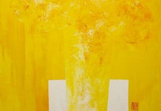 ザッキ 「太陽の花束」 油彩40号