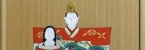 林美木子「上巳  桃の節句」板絵35.5×19