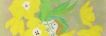 ボンコンパン「黄色いチューリップ」リトグラフ