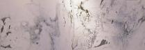 「Moraine」墨、岩絵具/麻紙 80×300cm