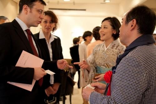 トルコ共和国大使御夫妻も展覧会を楽しまれました
