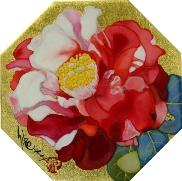 岩田壮平「都波喜」 岩絵具、金箔 11.2×11.2(八角形)  売約済