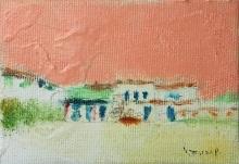 大和田いずみ「La Habanaへ」 油彩7×10 額装なし   *こちらの作品は実費にて額装を承ります