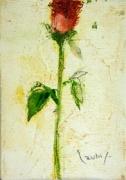 大和田いずみ「バラ」 油彩7×10 額装なし   *こちらの作品は実費にて額装を承ります