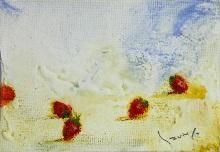 大和田いずみ「苺」 油彩7×10 額装なし    *こちらの作品は実費にて額装を承ります