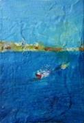 大和田いずみ「舟 -La Habana-」  油彩10×7   売約済