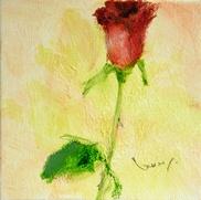 大和田いずみ「バラ」 油彩12.5×12.5  ¥78.750  売約済