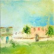 大和田いずみ「暑い日 -Varadero, CUBA-   」 油彩12.5×12.5    売約済