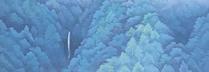 東山魁夷「山峡雨晴」 リトグラフ