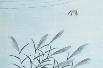 南桂子 「夏の終り」 45.8x37.9cm